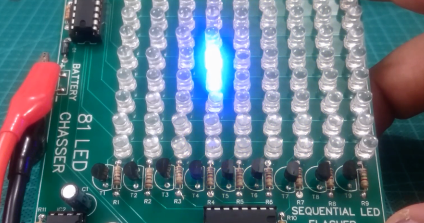 Led Chaser By Ic 4017 Ic 555