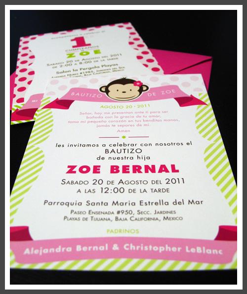 lizzy b loves 1st birthday baptism invitation