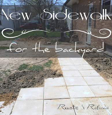weekend diy project, adding a new paver sidewalk