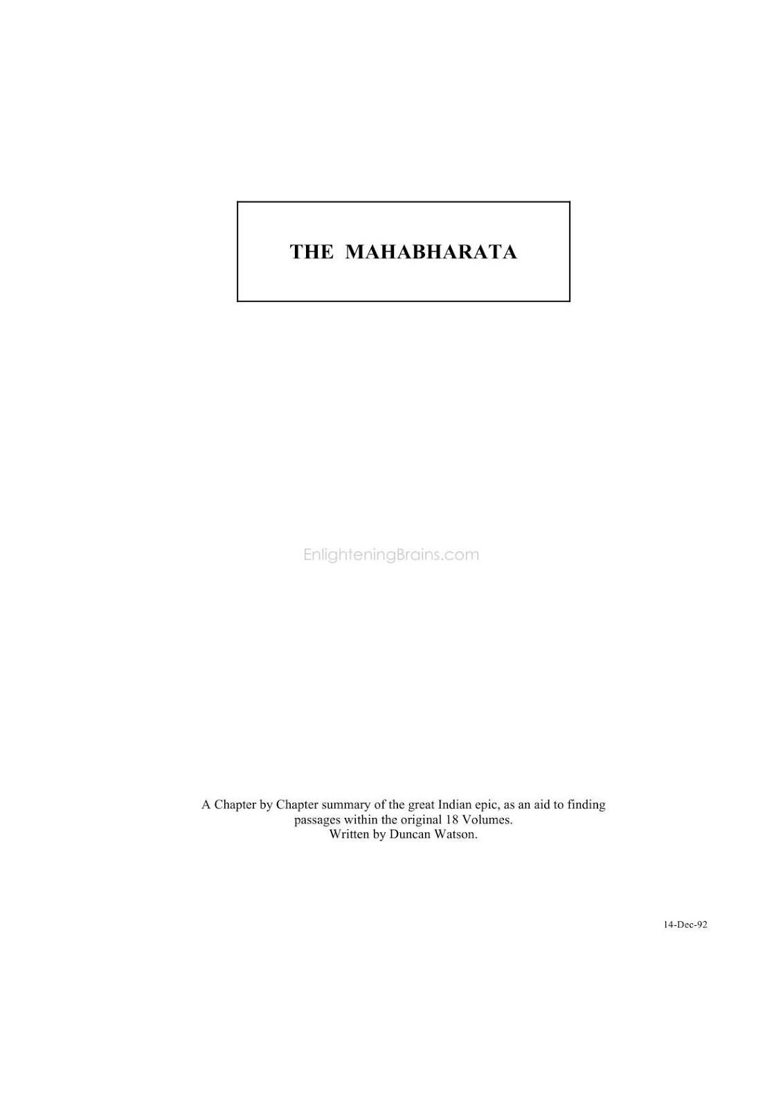 Mahabharata Tamil Book Pdf