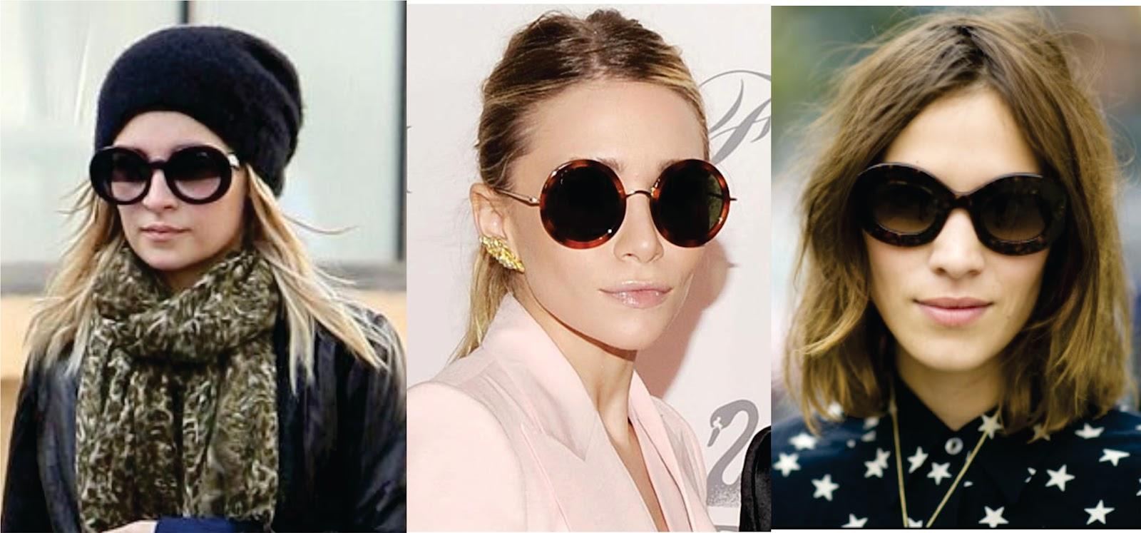 1086c1f235fae Os óculos com a armação redondinha pode ser diferente, mas é super  estiliso. Algumas celebridades como Nicole Richie, Mary Kate Olsen e Alexa  Chung adoram ...