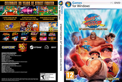 Jogo Street Fighter 30th Anniversary Collection PC DVD Capa