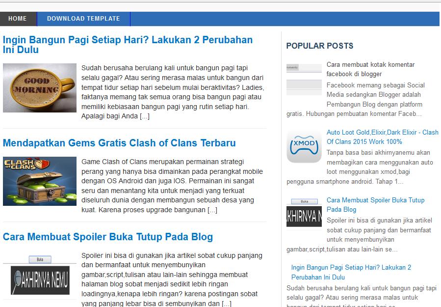 Template Blog Untuk Google Adsense - Seo Friendly Dan Fast ...
