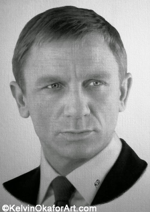 05-Daniel-Craig-Kelvin-Okafor-Celebrity-Portrait-Drawings-Full-of-Emotions-www-designstack-co