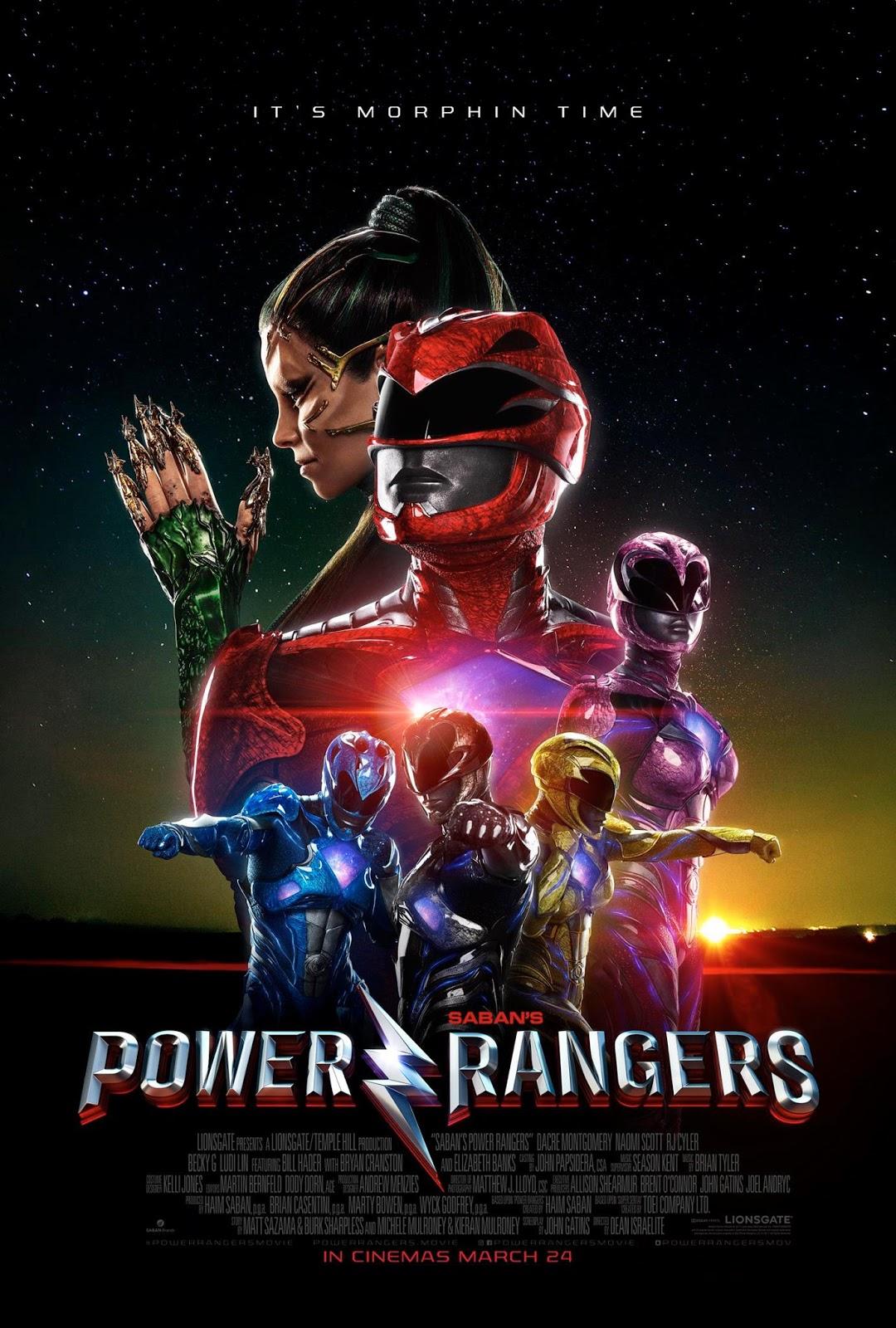 Power Rangers Movie Posters International & Domestic