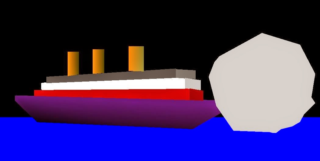 OpenGL Projects: Opengl Source Code Ship Iceberg Collision