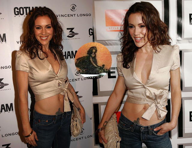 Alyssa Milano Tattoos And Meanings Reading A Word
