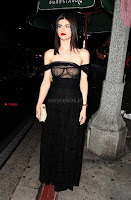 Alexandra Daddario Showing off her  in transparent top at Dior Addict Lacquer Pump Launch ~ Celebs.in Exclusive 008.jpg