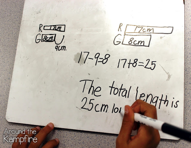 Two step word problems: Comparing length with tape diagrams