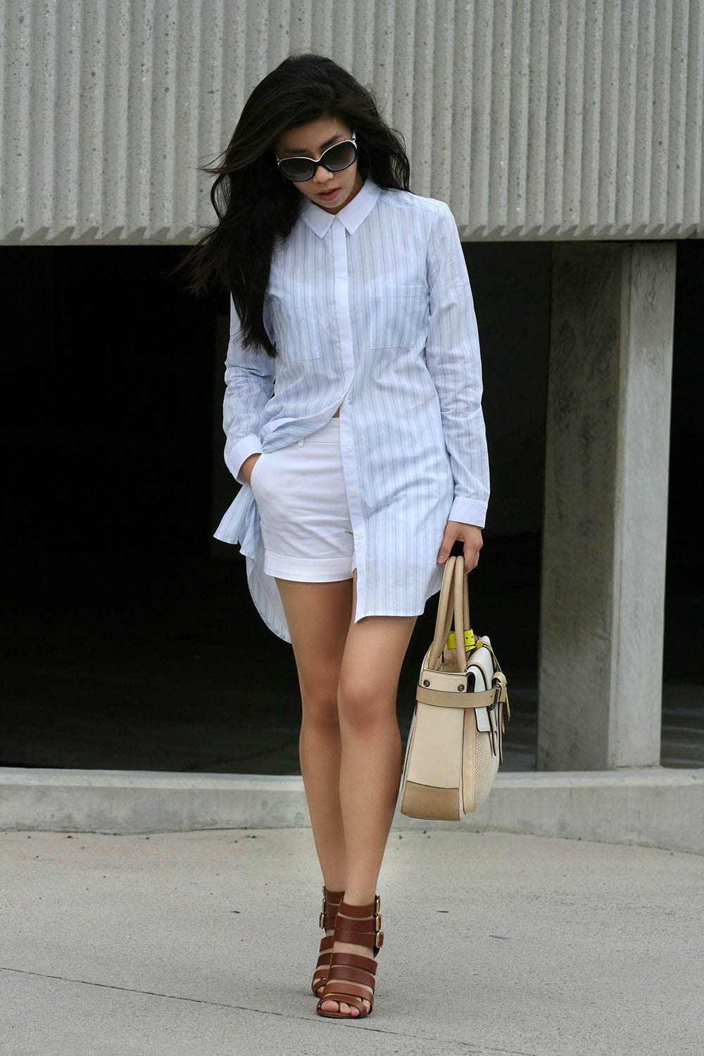 What to Wear with White Shorts_ How to Wear a sheer Top_Adrienne Nguyen_INvictus