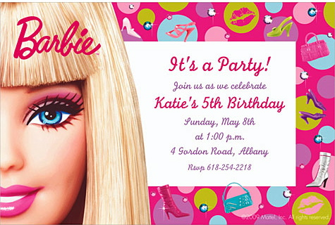 Gallery For Gt Barbie Invitations Templates 17 Best Images About