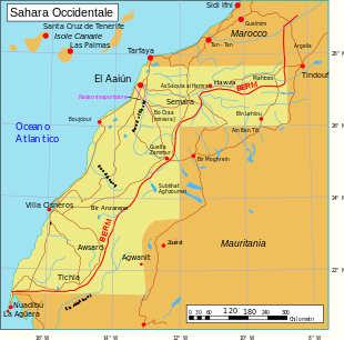 Confini Sahara Occidentale