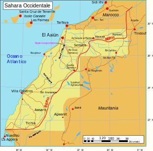 Confini Sahara Occidentale
