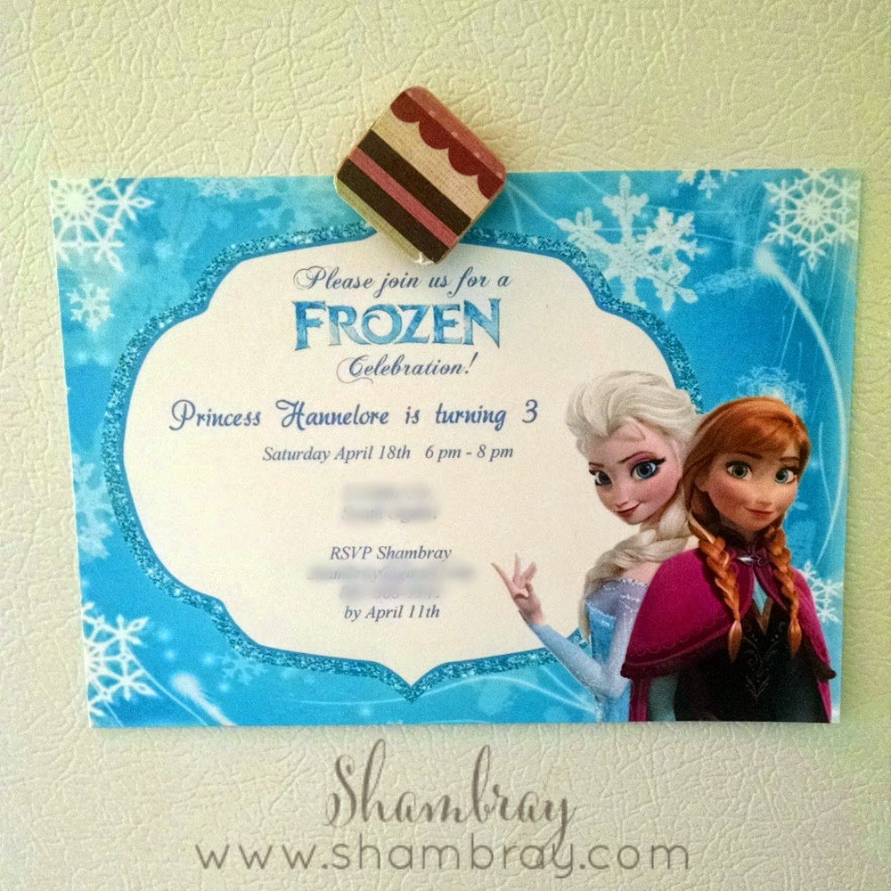 Shambray: A Frozen Birthday Party for a 3 year old
