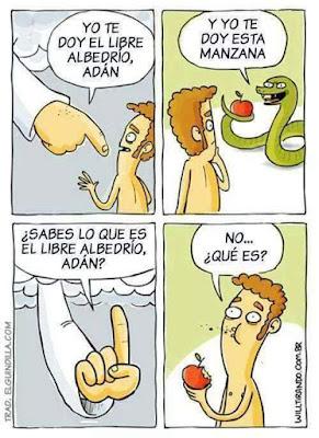 libre albedrío, Adán, serpiente, manzana