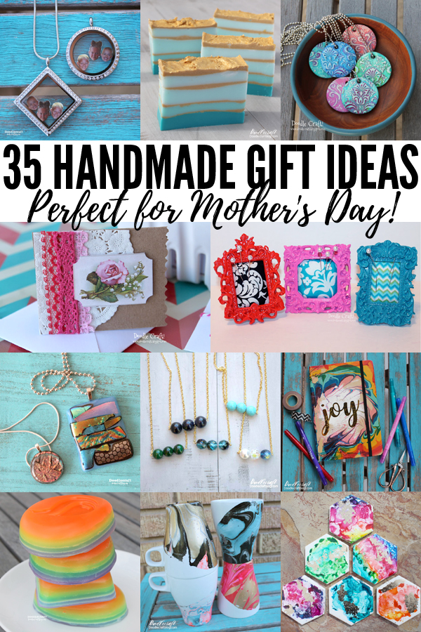 Make a great gift for mom on mother's day with these 35 handmade gift ideas.