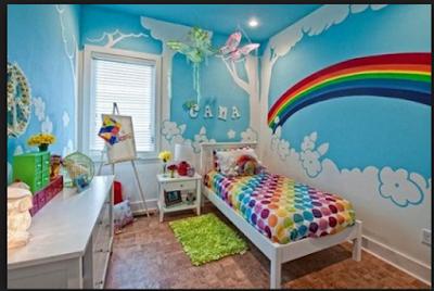 Desain Motif Wallpaper Kamar Tidur Anak Terbaik 2018 11