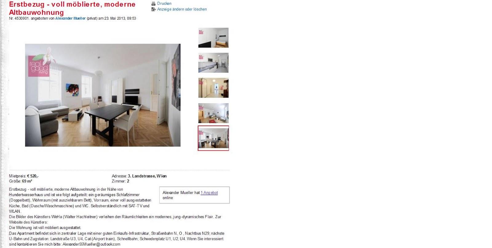 Informationen ber Wohnungsbetrug  informations about rental scam  Seite 224