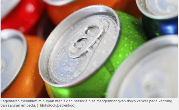Minuman Soda Picu Risiko Kanker