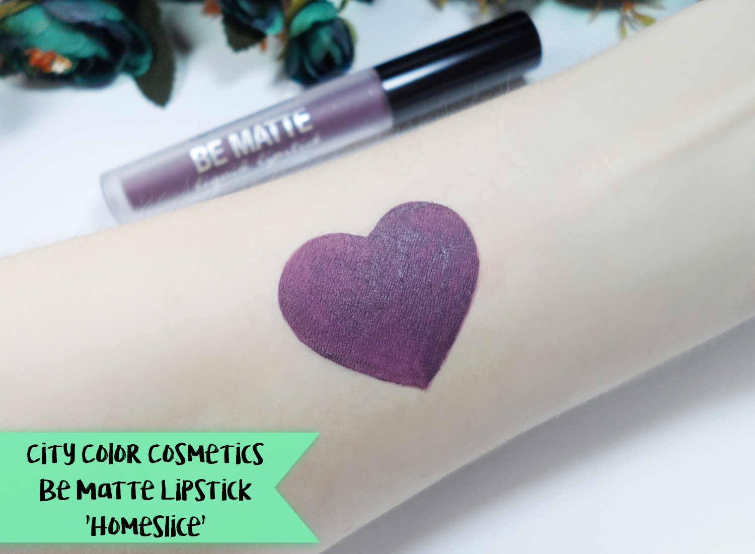 matte dark purple lipstick how to january girl beauty makeup blogger
