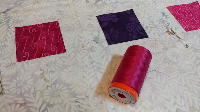 Aurifil thread and Island Batik fabrics