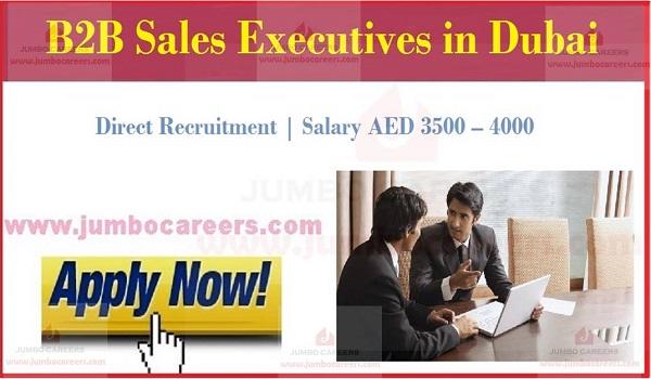 Recent Dubai jobs with benefits, Eligibilty criteria of sales executive jobs in Duabi,