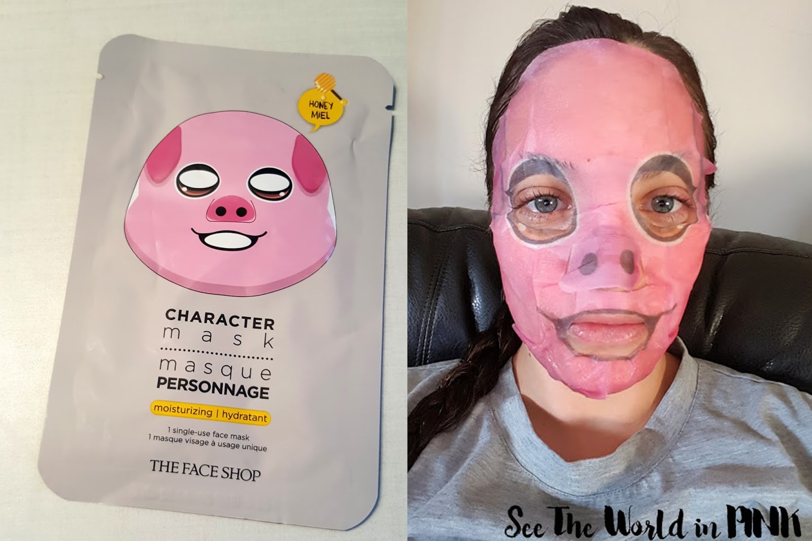 the face shop character mask pig