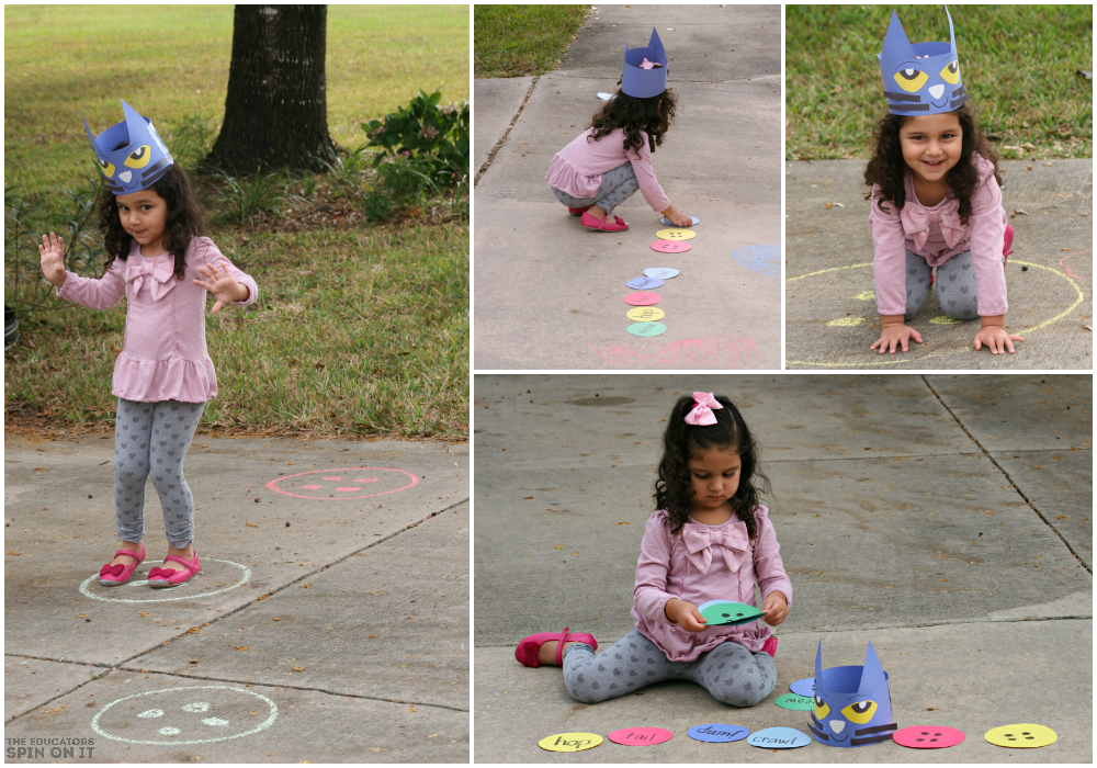 outdoor activities preschool pete the cat movement activity inspired by his four groovy 350