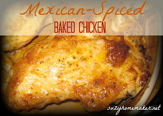 mexican-spiced baked chicken | suzyhomemaker.net