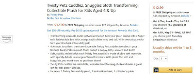 Twisty Petz Cuddlez wearable plush toys