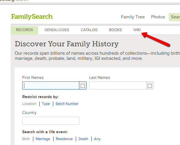 Larry Cragun Family And Genealogy Blog: The FamilySearch