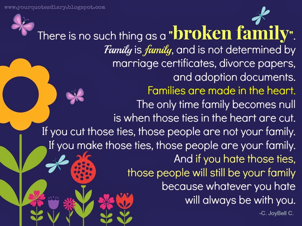 Family Quotes About Broken Relationships. QuotesGram
