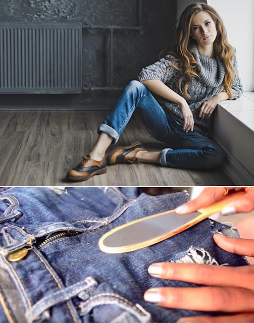 How To Make Ripped Jean - Scrape Or Bleach Off