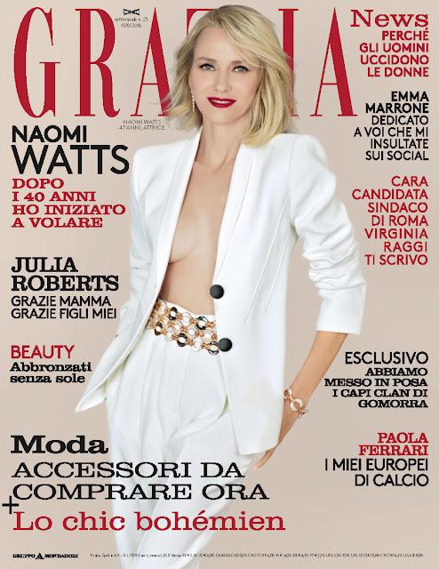 Actress, @ Naomi Watts - Grazia Italia, June 2016
