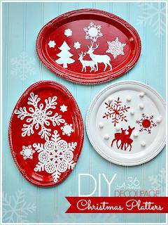 decorazioni di natale con piatti di plastica