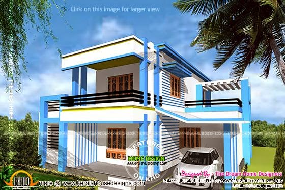 1250 sq feet house elevation and plan kerala home design for 1250 sq ft house plans