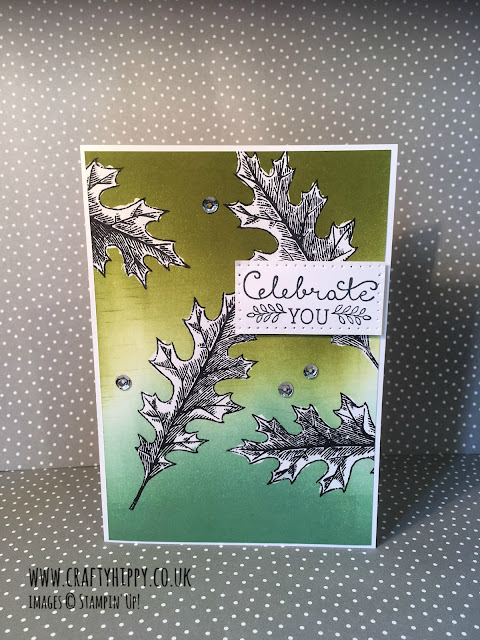 Vintage Leaves card, Stampin' Up! UK Demonstrator,