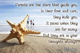 Quotes About Parental Love: Parents are stars that guide you. In their love and care, they hide you.