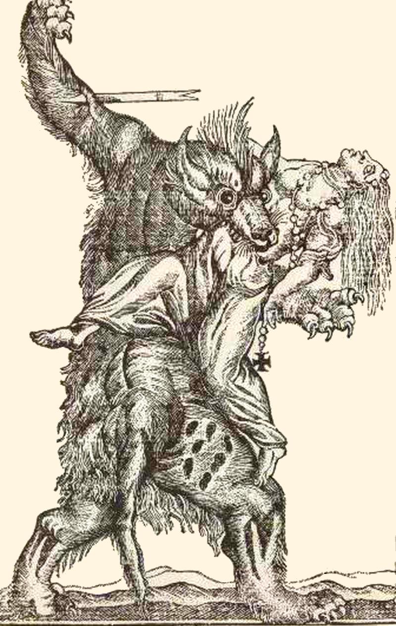 Un home llop devora una dona