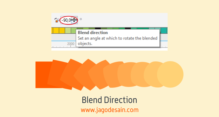 Mengenal Lebih Lanjut Blend Tool - Blend Direction