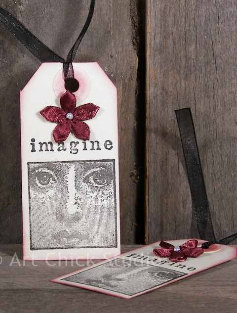Imagine Altered Art Tags