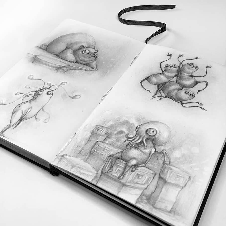 13-Drawings-of-Creatures-Stella-Bialek-www-designstack-co