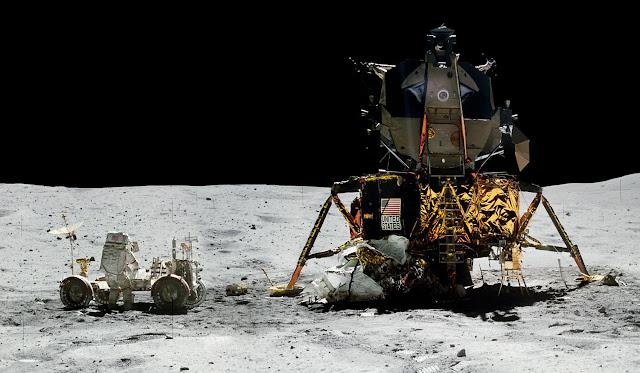 Аполло́н-16 Лунный модуль и ровер