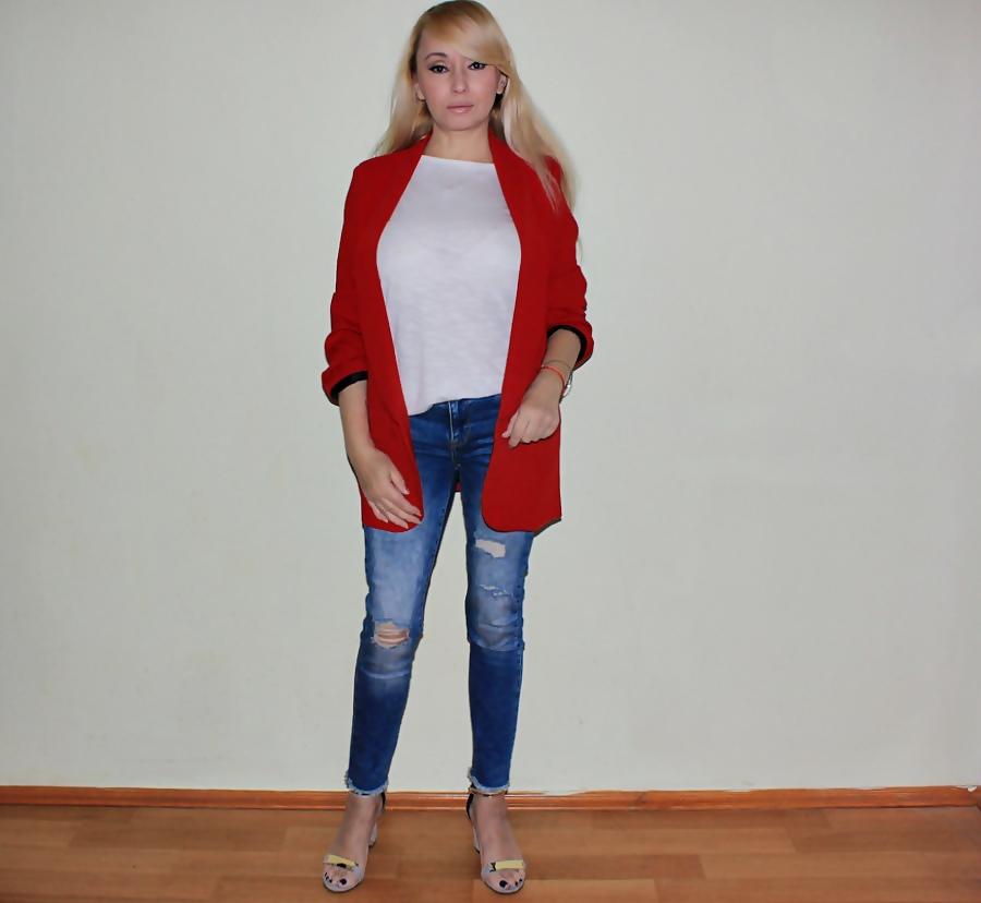 ZAFUL HAUL: Embellished Lapel Blazer. Красный блейзер / обзор, отзывы, фото
