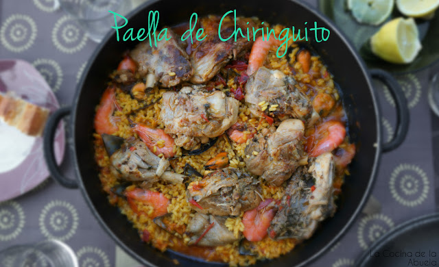 Paella Chiringuito Veraniega Receta Ingredientes plato final