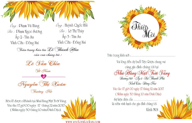 Thiệp cưới hoa mỹ thuật.