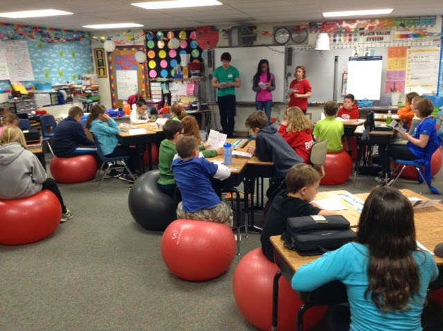 Ideas From Mrs. Iwanski's Classroom: Exercise Balls as Chairs