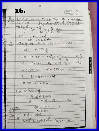 iitjee notes on complex number 16