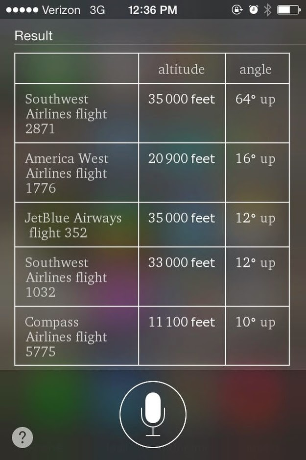 Find out which planes are flying overhead