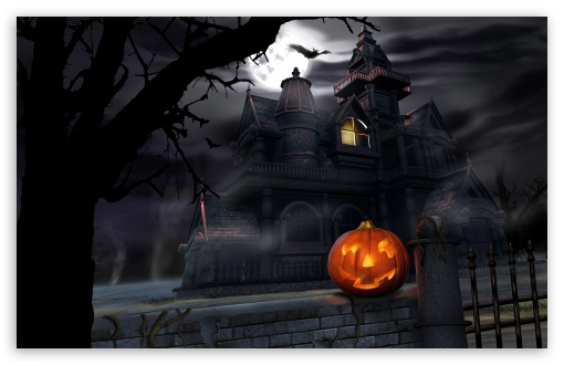 Halloween full moon hd wallpapers images pics for PC mobile